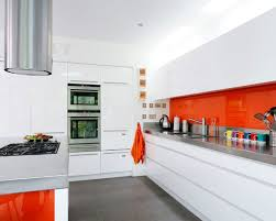 White Kitchen With Red Accents Red Orange Kitchen Ideas Quicuacom