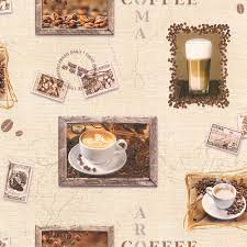 rasch coffee motif cappuccino mocha photo embossed vinyl kitchen wallpaper 855111