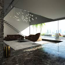 living room interior amazing modern living room decoration with cozy brown sofa and chair combine with dark granite flooring also chic pendant lamps amazing modern living room