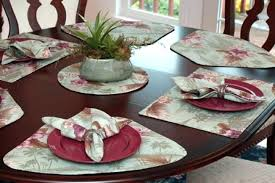 round table wedge light green tropical shaped for tables placemats s
