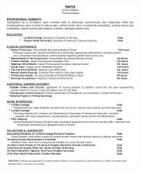 School Nurse Resume Objective Student Nurse Resume Template Sample Resume For Graduate New Grad 89
