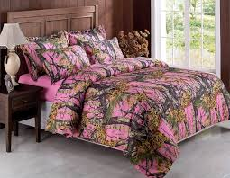 browning natural themed bedroom with pink camo bedding sheets white realtree pink camo bed set layout