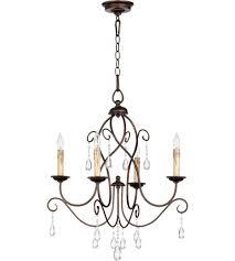 quorum 6116 4 86 cilia 4 light 22 inch oiled bronze chandelier ceiling light
