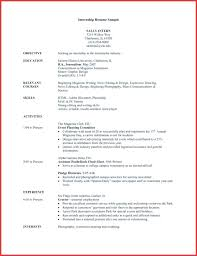 Resume Templates For Students Resume Samples For College Students Seeking Internships Sample