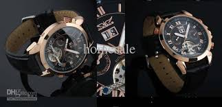 jaragar gold black men leather auto mechanical tourbillion dive white and black dial gold and silver case 6 models please sign you want the watches ja1 ja2 ja3 ja4 ja5 or ja6 otherwise i`ll send you default