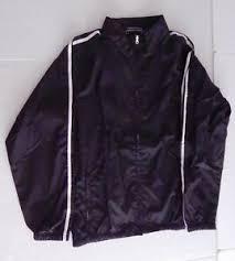 Details About Girls Black Polyester Athletic Jacket Size M 10 12 Lands End School Uniform