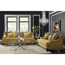 well liked yellow sofa chairs with furniture of america visconti 2 piece premium fabric sofa and