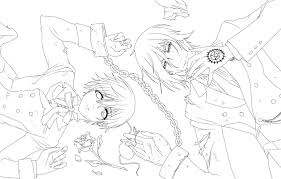 black butler anime manga to color gallery of black butler sebastian coloring pages stunning black