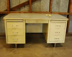 vintage office desks. steelcase tanker desk vintage industrial mid century 6 drawer office desks d