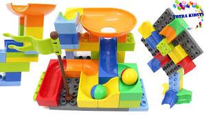 building blocks toys for children funtok marble run railway construction