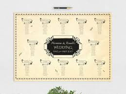 Harry Potter Wedding Marauders Map Seating Plan And Table