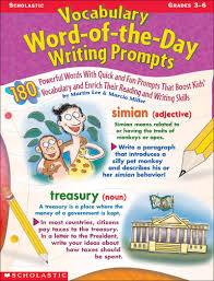 Vocabulary Word Of The Day Writing Prompts By Marcia Millermartin