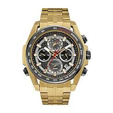 bulova men s watches sears bulova mens precisionist uhf tachymeter chronograph gold tone black dial