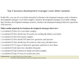 Business Development Manager Cover Letter Sample The Ideas Position