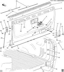 2007 2016 gmc chevrolet hummer cadillac lower tailgate hinge lh gm parts giant at Gm Oem Parts Diagram