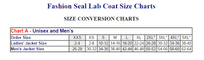 Lab Coat Size Conversion Chart Fashion Seal Lab Coat Size Charts Album On Imgur