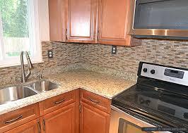 brown glass stone tile santa cecilia countertop backsplash regarding kitchen countertops and backsplash