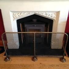 victorian fireplace screen large antique fireplace screen guard solid brass vintage architectural victorian beveled glass fireplace