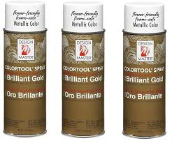 Design Master No 731 Brilliant Gold Colortool Spray Design Master 731 Garden Gold Three Pack Spray Paint