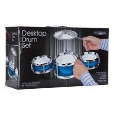 desktop drum set blue picture
