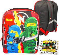 Amazon.com: Fast Forward Lego Ninjago Toddler 15 inch Backpack Set --  Bundle Includes 15 Inch