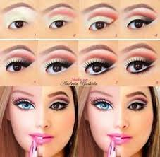 tuto make up barbie