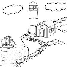 Small Picture Lighthouse at the Edge of the Cliff Coloring Pages Download