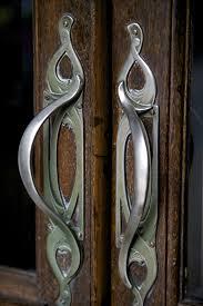 art nouveau door handles uk