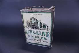 1920s sinclair opaline motor oil one gallon solder seamed tin with spout front