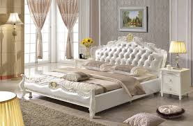 european bedroom furniture. european style king size white synthetic leather bed bedroom furniture from foshan market r