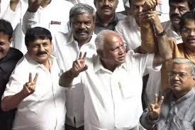 Karnataka Bjp Delegation Arrives In Delhi To Discuss Plan Of Action
