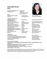 A Good Sample Acting Theater Resume Template With Photo Acting