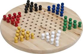 Wooden Board Game With Pegs Amazon Wooden Chinese Checkers Set Toys Games 77