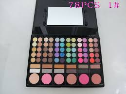 kit swatches mac 78 colors eyeshadow pallete