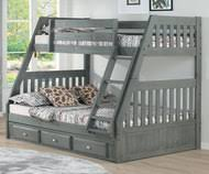 Westport Gray Twin over Full Bunk Bed Over Beds | Shop Affordable for Kids