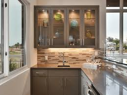 glass kitchen cabinet doors idea