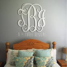 36 inch wooden monogram painted white wooden letters monogram wooden wall