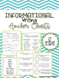 3rd Grade Anchor Charts Informational Anchor Charts For Third Grade Writing