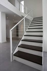 painted steel and glass staircase