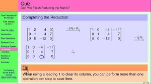 how to use matrices to solve systems of linear equations solving a system part 4 of 5 you