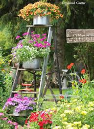 Image Pinterest Vintage Ladder Flowerpot Garden Display Homebnc 34 Best Vintage Garden Decor Ideas And Designs For 2019