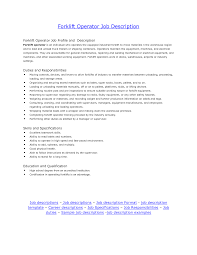 Forklift Driver Resume Free Resume Example And Writing Download