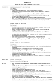 Software Engineer Resume Examples System Software Engineer Resume Samples Velvet Jobs 19