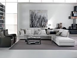 White Leather Chairs For Living Room Black And White Living Room Decor Interior White Leather Sofa Chic