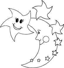 moon coloring page star for coloring happy star moon coloring page pages printable wars for toddlers