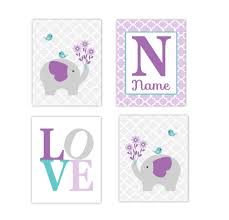 baby girls nursery canvas wall art purple lavender teal aqua gray within latest canvas prints for