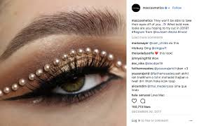 but in addition to the glittery eyes and hyper pigmented lips it also celebrates the makeup artist munity by regramming mac artists and promoting