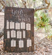Wooden Seating Chart Green Wedding Shoes