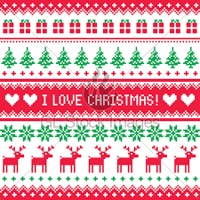 christmas sweater pattern background green. Plain Sweater Winter Red And Green Vector Background Nordic To Christmas Sweater Pattern E