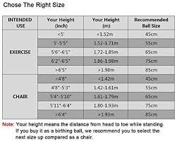 Exercise Ball Size Chart Balance Ball Size Chart Best Picture Of Chart Anyimage Org
